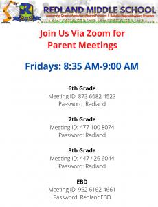 Parent Meetings @ Zoom