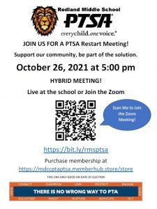 PTSA Hybrid Restart Meeting @ Zoom